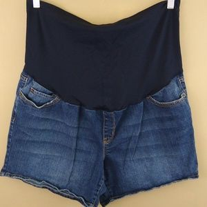 Liz Lang Maternity Jean Shorts w/ Belly Band Sz XL